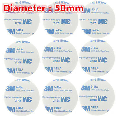 10pcs 9448A 3M Adhesive Pad Sheets Double Sided Foam Coated Tissue Tape Round