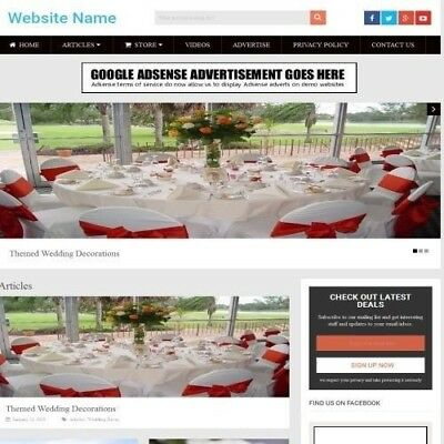 Established WEDDING STORE Online Business Website For Sale, Free Domain ++
