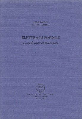 POUND Ezra, FLEMING Rudd, Elettra di Sofocle
