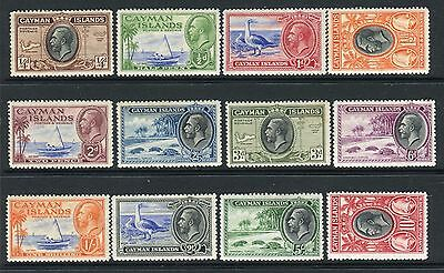CAYMAN ISLANDS-1935  A mounted mint set to 10/-