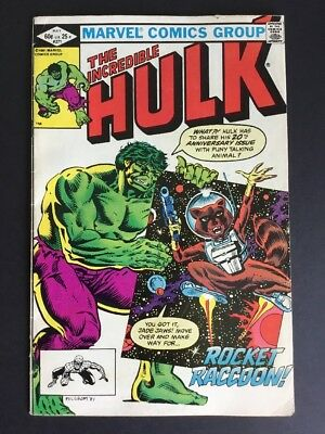 HULK, THE INCREDIBLE #271 1st Rocket Raccoon GUARDIANS OF THE GALAXY Marvel