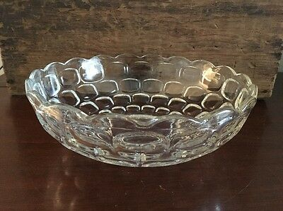 Federal Glass Yorktown Colonial Clear 9 inch Large Salad Bowl Lot 9