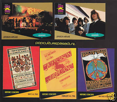 JEFFERSON AIRPLANE Group 1991 Pro Set MUSIC 5 CARDS SET