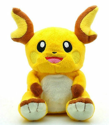 Pokemon Center Raichu Cuddly Plush Toy Stuffed Figure Doll 7 inch