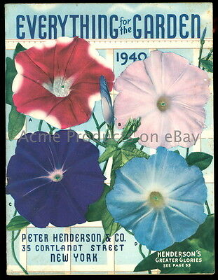 1940 GARDEN Catalog- FLOWERs & VEGETABLEs- Peter Henderson Co.-New York NY-144pg