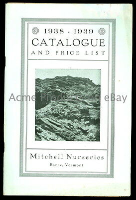 1938 Orig. GARDEN Catalog- ROCK GARDEN PLANTs -Mitchell Nurseries-Barre VT- 64pg