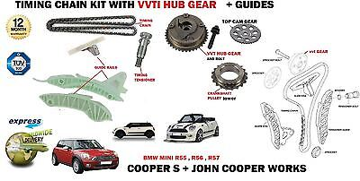 For Bmw Mini Cooper S + Jcw N14B16A N14B16C 2006-> Timing Chain Kit + Vvt Gear
