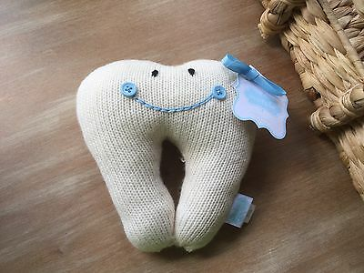 NWT Mud Pie Tooth Fairy Tooth Pillow Boy /Girl Blue