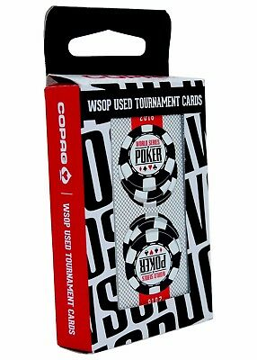 One Black Authentic Deck Dealt at WSOP Used Copag Poker Plastic Playing Cards