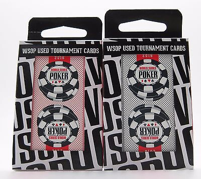 Set of 2 Authentic Decks Dealt at WSOP Used Copag Poker Plastic Playing Cards
