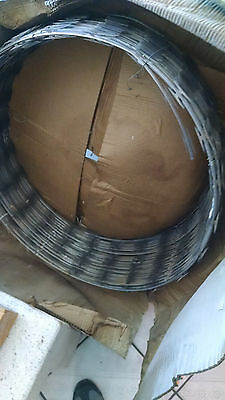 "Razor Ribbon brand, stainless steel razor wire 30"" dia. x 25' ft. lenght"