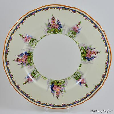 Antique Alfred Meakin Hollyhock Salad Plate FREE SHIP