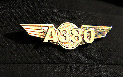 AIRBUS A380 WINGS gold for Pilot Crew as uniform accessory Pilot Wing metal