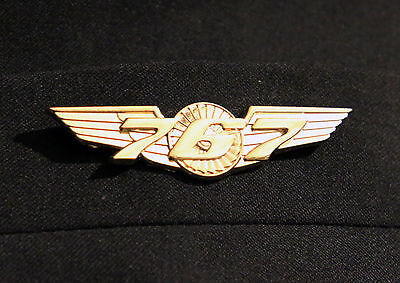 BOEING 767 WINGS gold for Pilot Crew as uniform accessory Pilot Wing metal