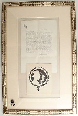 """Edgar Bergen Charlie McCarthy Signed Autograph Typed Letter """"Bed for Three"""" Rare"""