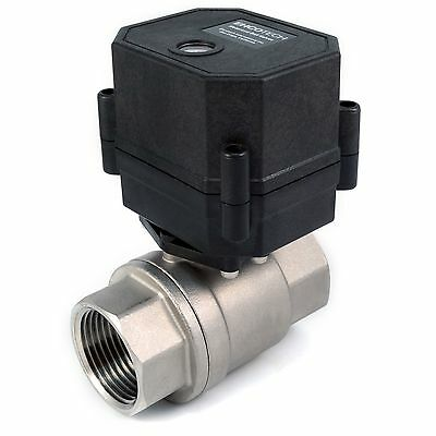 "1"" NPT Motorized Ball Valve Stainless Steel EPDM 9, 12V to 24V AC / DC 3-wire"