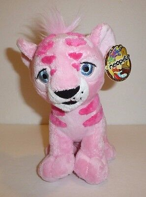 Pink Kougra Painted Plush Stuffed Animal with Tags 2006 Cougra Couger