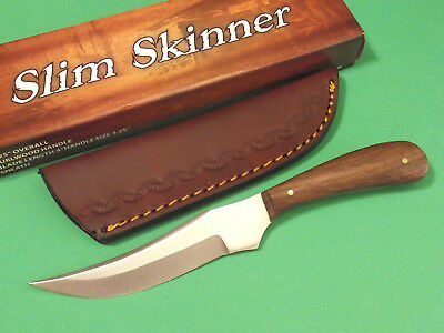 "SLIM SKINNER DH7992 Brown wood full tang fixed blade knife 7"" overall PA7992 NEW"