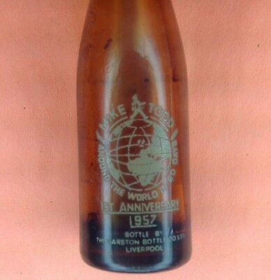 1957 Guinness Mini Beer Bottle Mike Todd Around The World In 80 Days