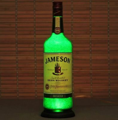 Jameson Irish Whiskey Liquor Bottle lamp Night Light 50,000 hour LED Man Cave
