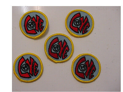 """LOT of 20 Vintage """"LOVE"""" with Smiley Face,2""""Round -red letters embroidered/ iron"""