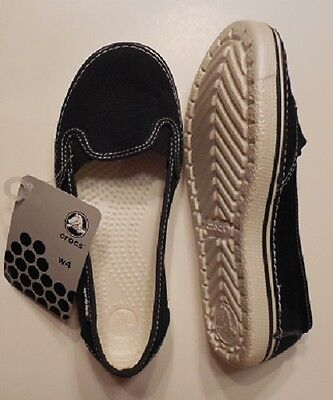 9e98f90796734 CROCS HOVER SLIP On Canvas Womens.. W4.....