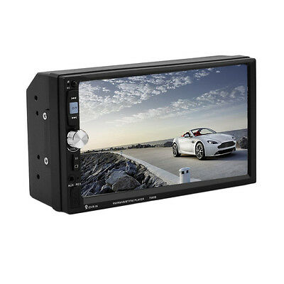 """7"""" Double 2DIN Car MP5 MP3 Player Bluetooth Touch Screen Stereo Radio HD"""