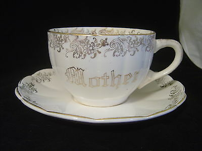 Vintage W S George Ohio Royal China Warranted Mush Cup And Saucer Marked Mother