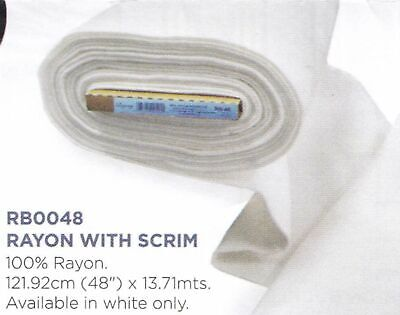 Rayon With Scrim Batting Fleece For Quilting And Crafts 121.9cm x 13.7m Full Bol