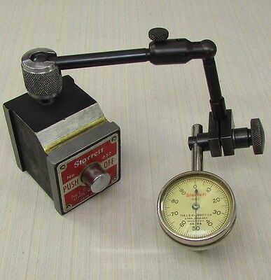 STARRETT 657A  Magnetic Base with STARRETT 196B Dial Test Indicator; Machinist