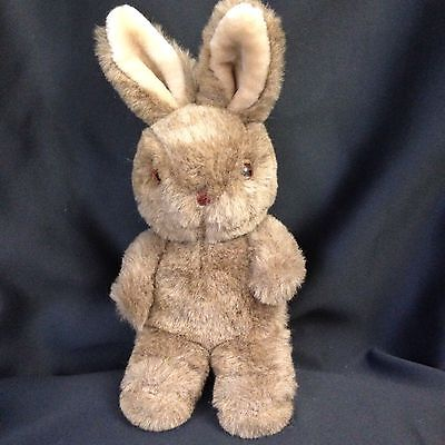 APPLAUSE Plush 1985 Brown Butterball Bunny Rabbit VINTAGE Stuffed Animal Toy 12""