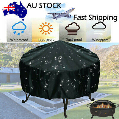 """30"""" x 23"""" Patio Round Fire Pit Cover Waterproof UV Protector Gas Grill BBQ Cover"""