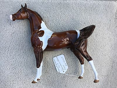 Breyer Peter Stone Horse Arabian Glossy Cocoa Fire Warmth Brown Pinto FCM Swish