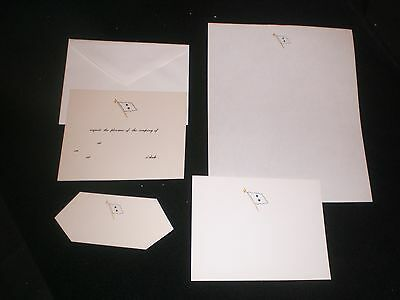 TWO STAR United States Navy USN REAR ADMIRAL Unused 5 piece STATIONERY SET