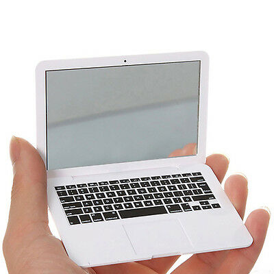Creative Portable Women Mirror Pocket Mini Laptop Notebook Shape Makeup Mirror