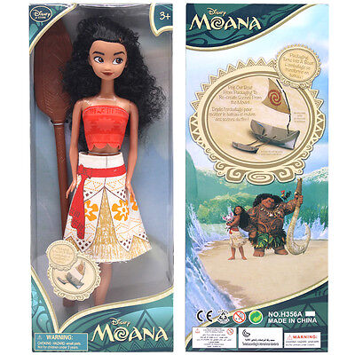 13'' Disney Moana Figure Princess Adventure Collection Doll Gifts PVC Toy Model