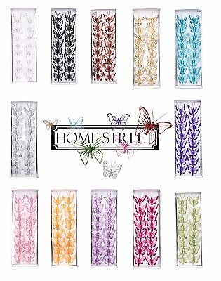 Clip on Mini Small Butterflies Glitter Decorations Pack of 16 Butterfly Wedding