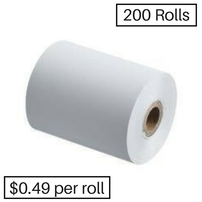 200 Rolls 57x50mm EFTPOS Thermal Paper( $99.50 BX) (49 cents per roll)