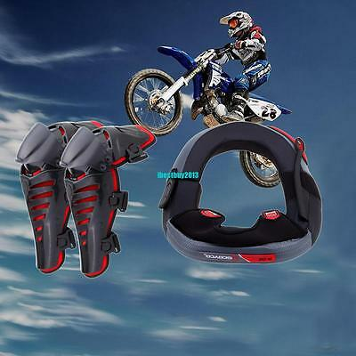 Safety Motorcycle Racing Motocross Adult Knee Protector Guards Neck Brace Enduro