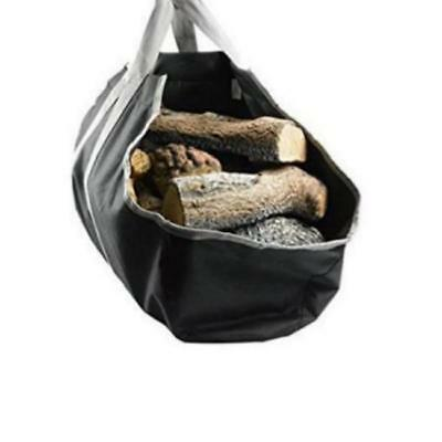 Strong Canvas Bag Carrier Storage Wood Handles Firewood Log Tote Brand New B