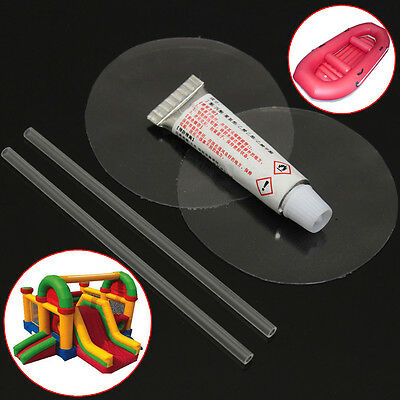 PVC Puncture Repair Patch Glue Kit For Inflatable Toy Swim Pool Air Bed Dinghies