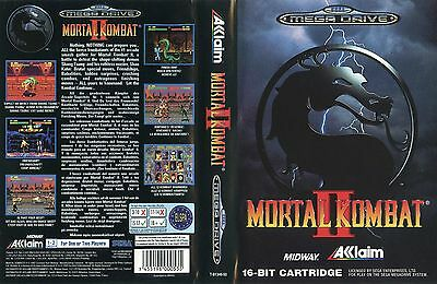 Mortal Kombat II 2 Sega Mega Drive PAL EU Replacement Box Art Case Insert Cover