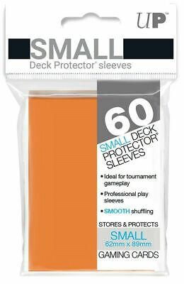 Ultra Pro Deck Protector Small Card Sleeves 60 x ORANGE YuGiOh Vanguard 62 x 89m