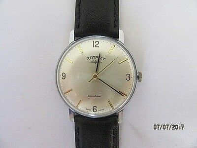 Rotary Incabloc Manual Wind Wrist Watch 1960s