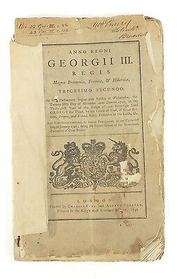 George Iii Parliament Paper Ref Broadstairs Pier & Harbour Printed 1792 Fair Con