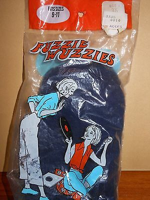 Vintage Fuzzie Wuzzies Booties Womens Socks in sealed MOD package /slippers Rare