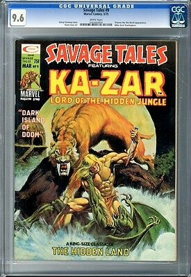 Savage Tales  #9  CGC  9.6  NM+  white pages  3/75 M. Kaluta Cover G. Conway Art