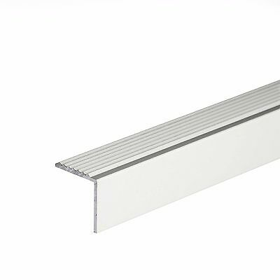 1.82m by 30mm  Aluminium stair edging profile, Screw fixing supplied