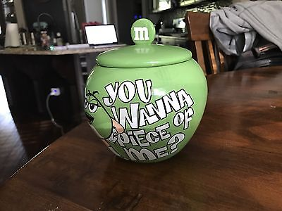 M&M's MM's Green You Wanna Piece Of Me Candy Candy Jar/Dish