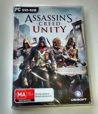 Assassins Creed: Unity Special Edition (PC, 2014) NEW & AUSSIE + DAY ONE MANUAL!